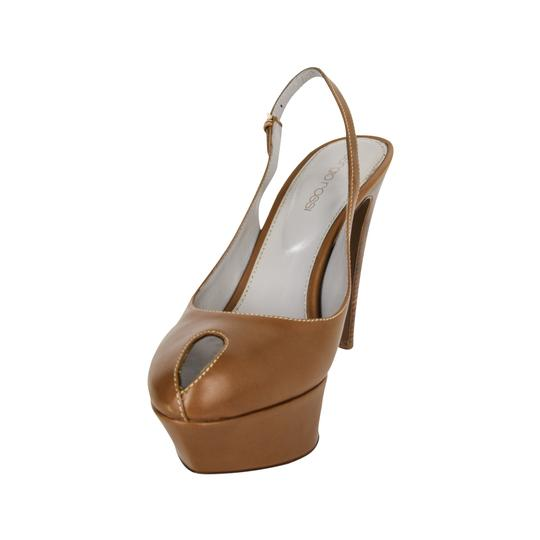 Sergio Rossi Khaki Leather Brown Platforms Image 5