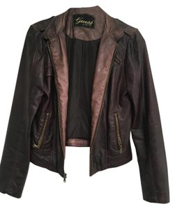 Guess Vegan Leather Motorcycle Jacket