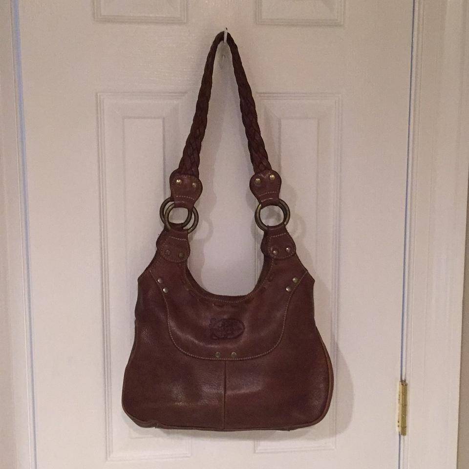 Roots Calamity Jane Purse Brown Leather Satchel 53% off retail