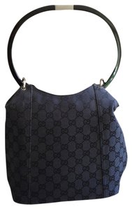 Gucci Vintage Gg Canvas Satchel in Black