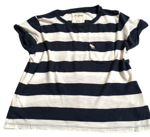 Abercrombie & Fitch Kids T Shirt Blue and White