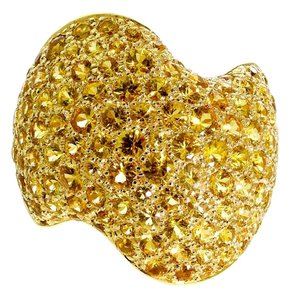 Van Cleef & Arpels Van Cleef Arpels Yellow Sapphire Pave Gold Ring 18k