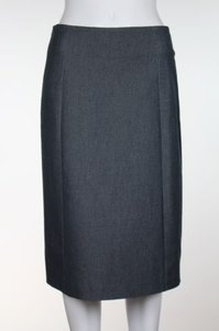 Shin Choi Bergdorf Goodman Womens Below Knee Cotton Blend Skirt Gray