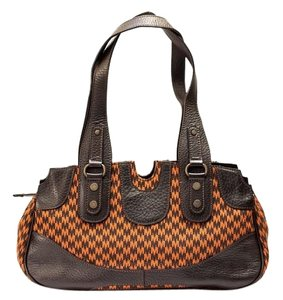 Max Mara Canvas Geometric Shoulder Bag