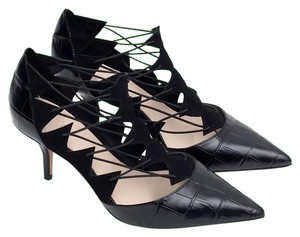 Zara High Heel Leather Pointed Toe Lace Up Givenchy Black Pumps