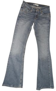 Levi's 518 Super Low Boot Cut Jeans-Medium Wash