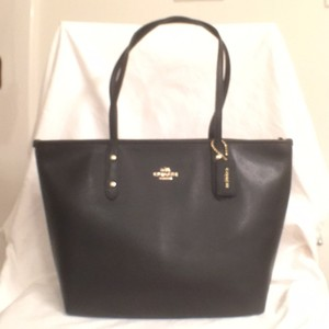 Coach Leather New Nwt Shoulder Tote in Black