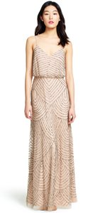 Adrianna Papell Taupe/pink Dress