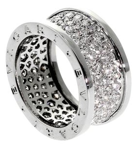 BVLGARI Bulgari White Gold Pave Diamond Bzero1 Ring 18k