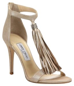 Jimmy Choo Leather Viola Shimmer Pumps