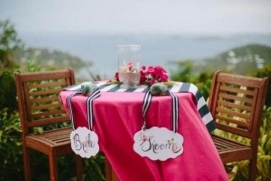 Preload https://item1.tradesy.com/images/navy-and-white-bride-and-groom-sign-with-striped-ribbon-reception-decoration-182165-0-0.jpg?width=440&height=440