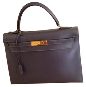 Hermes Authentic Birkin 25 Satchel in Hermes Grey