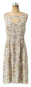 Anthropologie short dress tan/yellow New With Tags Floral on Tradesy