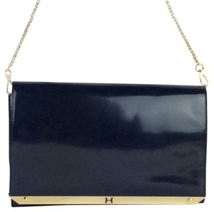 Halston Business Front Flap Leather Shoulder Bag