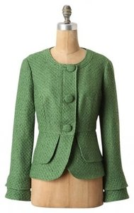 Anthropologie Jacket Jacket Retro Vintage Buttons Green Blazer
