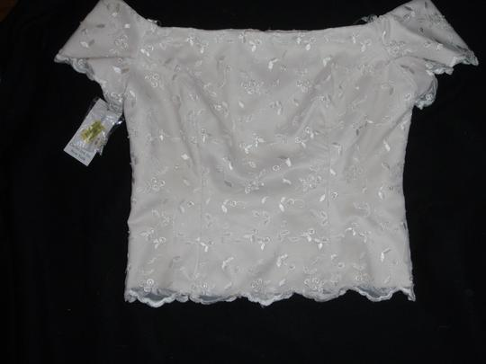 Cache Gold Lace Over Bone with Satin Lining Mother Of The Bride Embroidered/Sequin Top Skirt Formal Dress Size 8 (M)