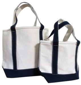 Other Canvas Set Heavy Duty Tote in Beige w/ Navy