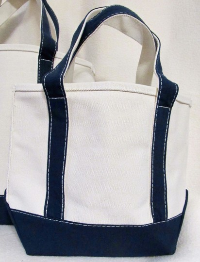 Other Canvas Set Heavy Duty Tote in Beige w/ Navy Image 1
