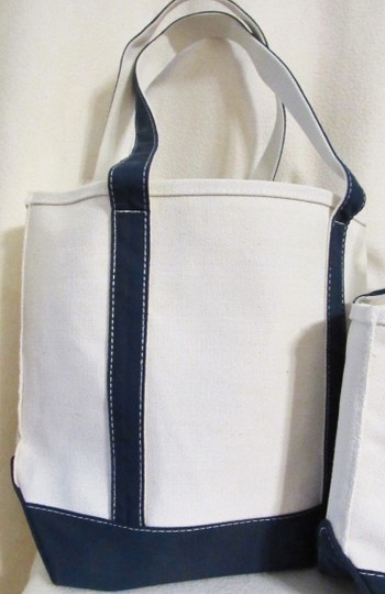 Other Canvas Set Heavy Duty Tote in Beige w/ Navy Image 2