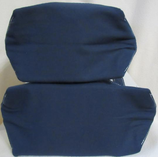 Other Canvas Set Heavy Duty Tote in Beige w/ Navy Image 3