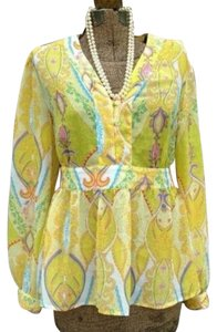 JG Hook Women Yellow Top Yellow, paisley