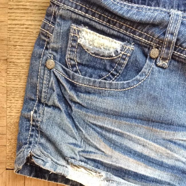 Blue Spice Denim Shorts-Distressed