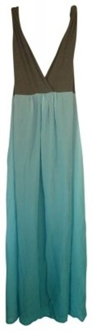 Preload https://item4.tradesy.com/images/liz-lange-maternity-turquoise-blue-gray-ombre-maxi-gown-maternity-casual-dress-size-14-l-33-34-18218-0-0.jpg?width=400&height=650
