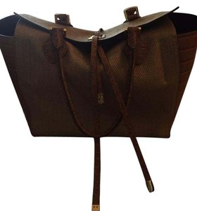 Michael Kors Miranda Tote in East West Woven Leather