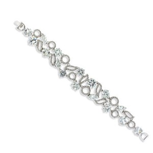 Giavan Cz Bracelet With Scattered Round Stones (b14)