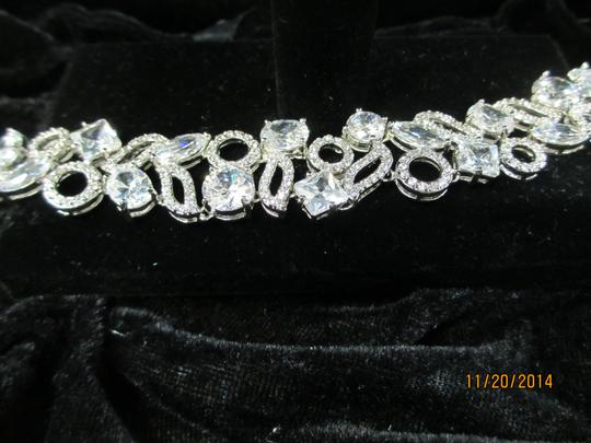 Giavan Silver Cz with Scattered Round Stones (B14) Bracelet