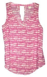 Old Navy Top Pink/White