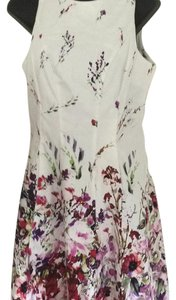 Maggy London short dress White/Rose/Burgundy on Tradesy