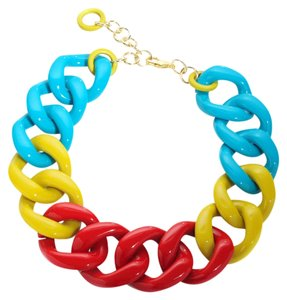Alisha D. Chunky Link Harlequin Necklace from Italy
