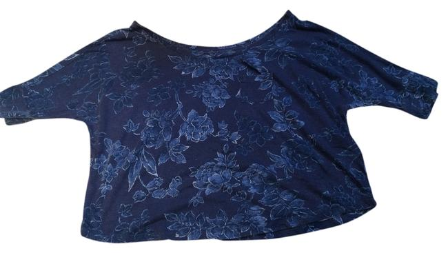 Abercrombie & Fitch Kids Cropped Tee Shirt Top Blue