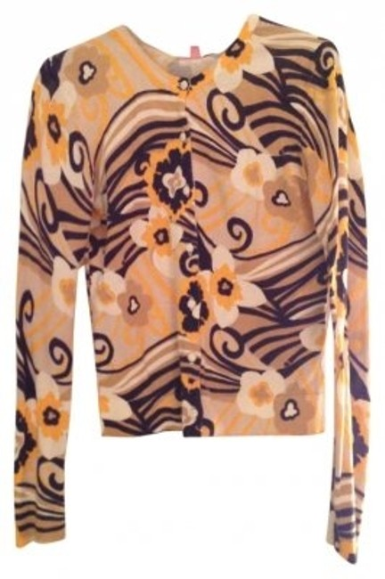 Preload https://img-static.tradesy.com/item/182194/lilly-pulitzer-multicolored-yellow-black-and-white-sweater-cotton-buttons-summer-spring-musthave-car-0-0-650-650.jpg