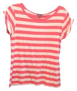 Lilla P T Shirt Hot pink and white