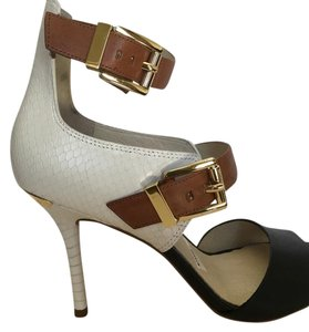 Michael Kors Black white brown Wedges