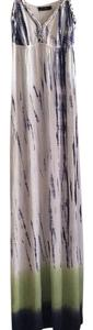 Tie Dye - Navy Blue/Green/White Maxi Dress by Seven7