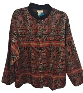 Coldwater Creek Patchwork Floral Paisley Jacket
