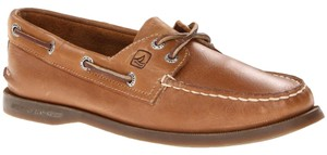 Sperry Top-sider Leather Sahara Tan Flats