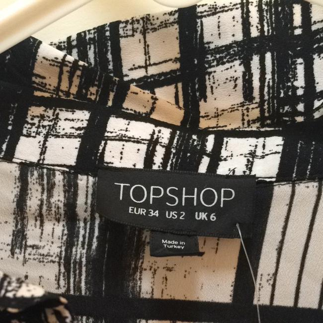 Topshop Button Down Shirt black and white Image 1