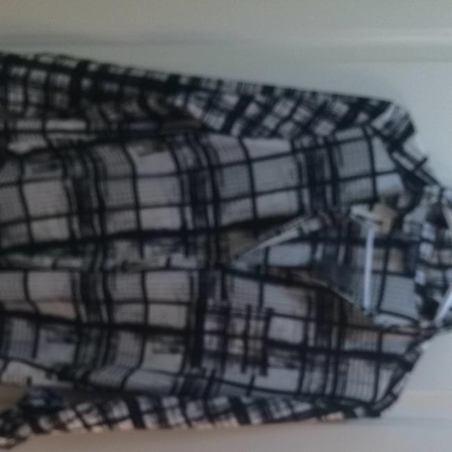 Topshop Button Down Shirt black and white Image 2