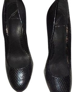 Brian Atwood Purple blend with black, snake skin Pumps