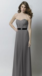 Watters Falcon Grey With Black Ribbon Sash 295 Dress