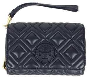 Tory Burch Quilted Wallet Quilted Leather Quilted Wallet Wallet Black Clutch