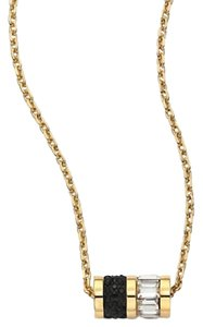 Michael Kors Michael Kors MKJ3843 Gold Black Crystals Cylinder Pendant Necklace