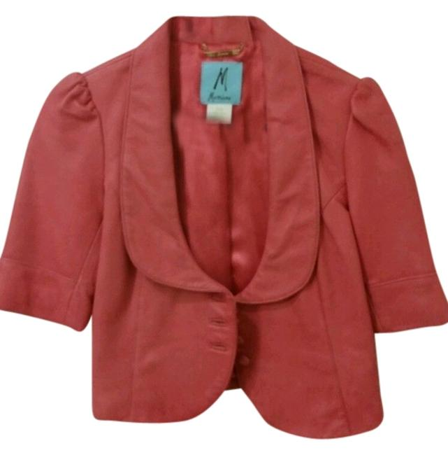 Preload https://item3.tradesy.com/images/marciano-peach-leather-jackettop-blouse-size-4-s-1822192-0-0.jpg?width=400&height=650