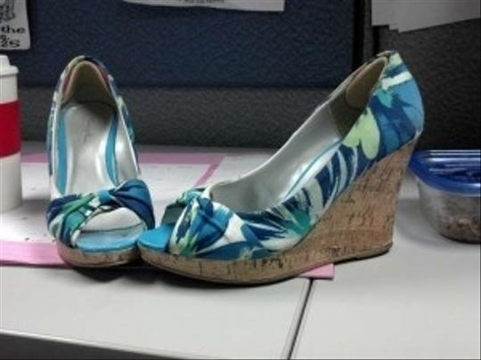 Charlotte Russe Multi- blues and greens Wedges