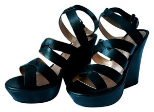 Marc by Marc Jacobs Wedge Crisscross Strap Black Wedges
