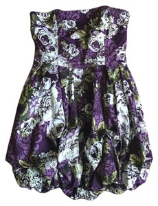 Charlotte Russe short dress Purple, white, and green on Tradesy